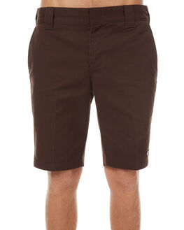 CHOCOLATE BROWN MENS CLOTHING DICKIES SHORTS - WR872CHOC