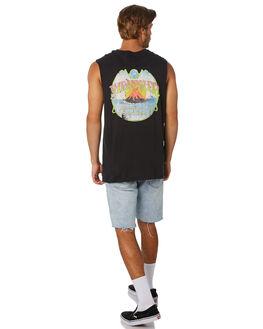 WORN BLACK MENS CLOTHING WRANGLER SINGLETS - 901669082