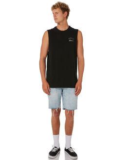 BLACK MENS CLOTHING DEPACTUS SINGLETS - D5202271_BLACK