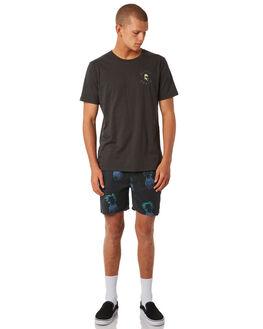 BLACK MENS CLOTHING GLOBE BOARDSHORTS - GB01818008BLK