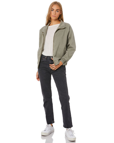 OLIVE WOMENS CLOTHING THE HIDDEN WAY JACKETS - H8203383OLIVE