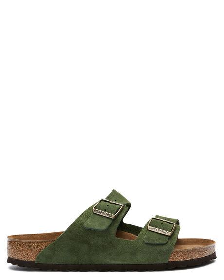 GREEN MENS FOOTWEAR BIRKENSTOCK SLIDES - 1014200MGREEN