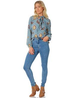 BLUE WOMENS CLOTHING TIGERLILY FASHION TOPS - T383100BLUE