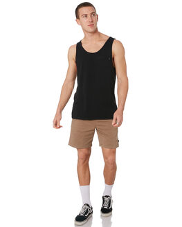 BLACK MENS CLOTHING RIP CURL SINGLETS - CTETA20090