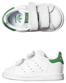 WHITE WHITE GREEN KIDS TODDLER BOYS ADIDAS ORIGINALS FOOTWEAR - M20609WHI