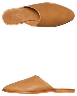 SADDLE TAN LEATHER WOMENS FOOTWEAR URGE FLATS - URG16211TAN