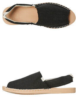BLACK TAN WOMENS FOOTWEAR REEF FLATS - A3VBSBTA