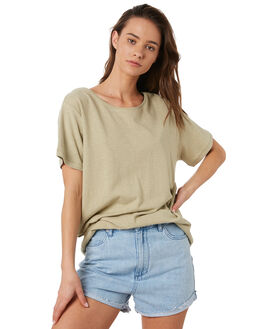 KHAKI WOMENS CLOTHING RIP CURL TEES - GTECD20064