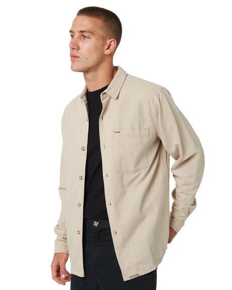 NATURAL MENS CLOTHING MISFIT SHIRTS - MT095401NAT