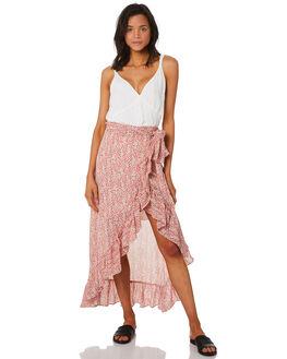 PRINT WOMENS CLOTHING LULU AND ROSE SKIRTS - LU23698PRT