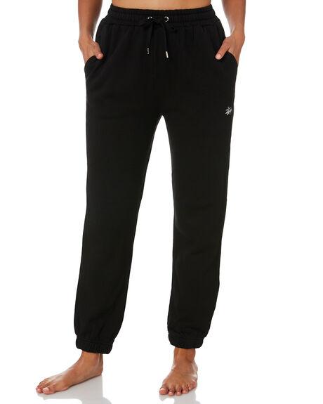 BLACK WOMENS CLOTHING STUSSY PANTS - ST1M0153BLK