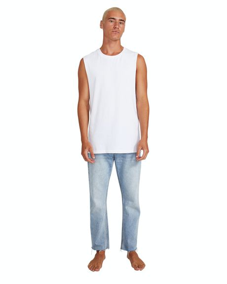 WHITE MENS CLOTHING GENERAL PANTS CO. BASICS SINGLETS - 10979000013