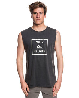 BLACK MENS CLOTHING QUIKSILVER SINGLETS - EQYZT05131KVJ0