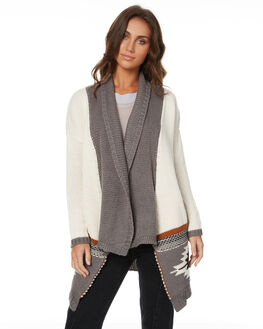 OATMEAL MARLE WOMENS CLOTHING RIP CURL KNITS + CARDIGANS - GSWFG18526