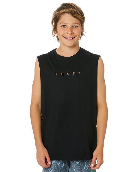 BLACK KIDS BOYS RUSTY TOPS - MSB0093BLK