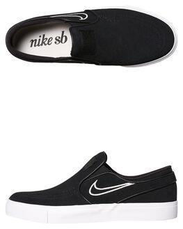 BLACK WHITE MENS FOOTWEAR NIKE SLIP ONS - SS833564-004M