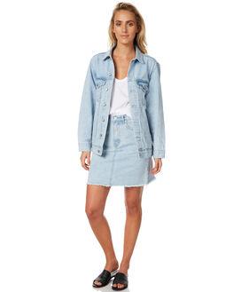 SEA BLUE WOMENS CLOTHING ASSEMBLY JACKETS - AW-W21727SBLU