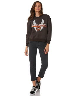MERCH BLACK WOMENS CLOTHING THRILLS JUMPERS - WTW9-216MBMBLK