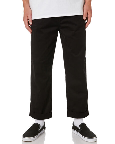 2026d94803ca Swell Vinny Mens Loose Fit Chino Pant - Black | SurfStitch