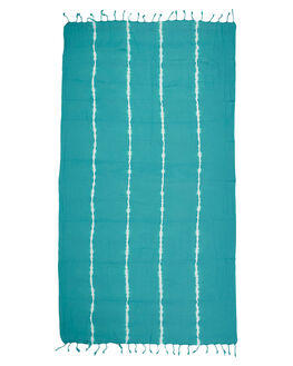 TURQUOISE WOMENS ACCESSORIES MAYDE TOWELS - 17SALTTUR