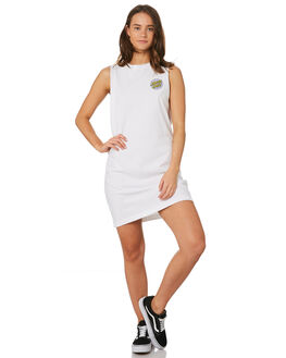 WHITE WOMENS CLOTHING SANTA CRUZ DRESSES - SC-WDC9894WHT