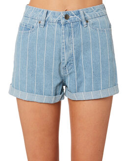 WASHED STRIPE WOMENS CLOTHING RVCA SHORTS - R493311WSTR