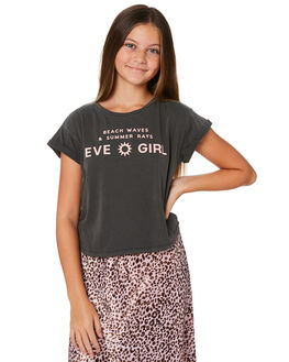 WASHED BLACK KIDS GIRLS EVES SISTER TOPS - 9541006WBLK