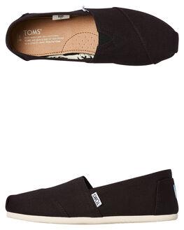 BLACK WOMENS FOOTWEAR TOMS SLIP ONS - 001001B07-BLK