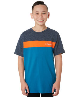 TEAL KIDS BOYS RIP CURL TOPS - KTESG24821