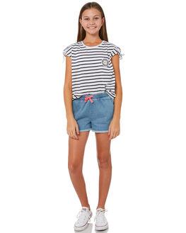 MID BLUE DENIM KIDS GIRLS EVES SISTER SHORTS - 9920037MIDBL