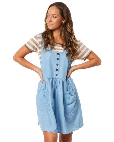 DENIM WOMENS CLOTHING RHYTHM DRESSES - JUL18W-DR06DEN
