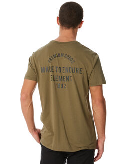 OLIVE MOSS MENS CLOTHING ELEMENT TEES - 186016OMOSS