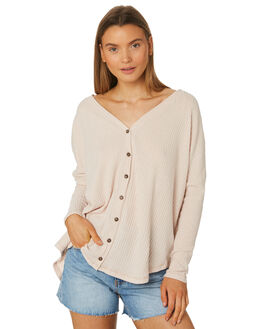 OATMEAL WOMENS CLOTHING RUSTY KNITS + CARDIGANS - FSL0546OAT