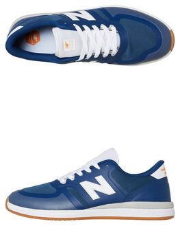 ROYAL WHITE MENS FOOTWEAR NEW BALANCE SKATE SHOES - NM420BGRRYLW