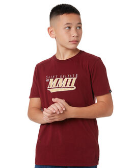 BURGUNDY KIDS BOYS ST GOLIATH TOPS - 2450004BURG