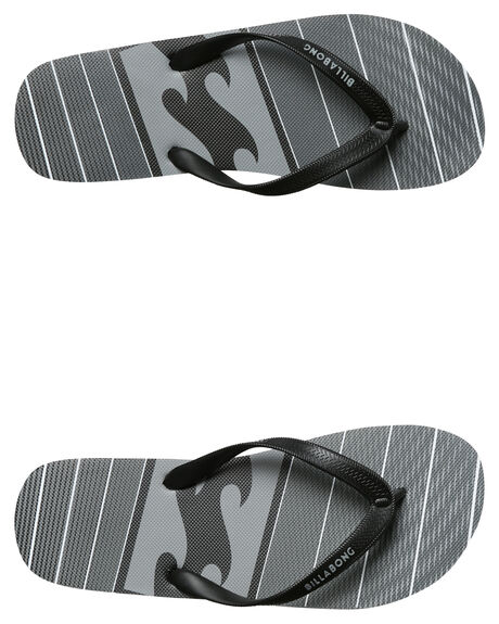BLACK WHITE MENS FOOTWEAR BILLABONG THONGS - 9672931BA0