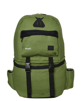 GREEN BLACK MENS ACCESSORIES THE BUMBAG CO BAGS + BACKPACKS - C0039GRNBL