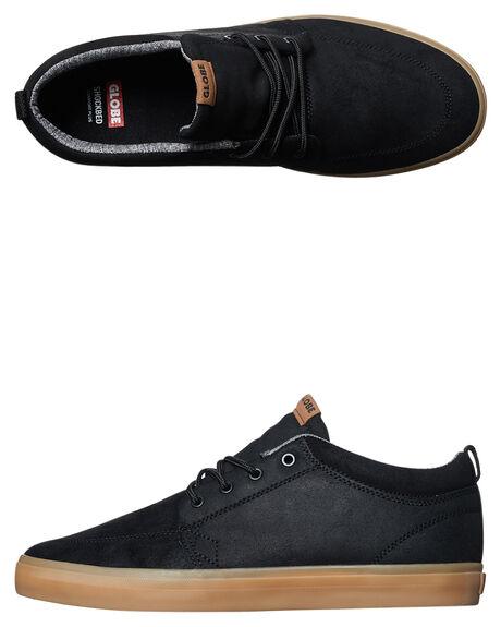 BLACK OILED GUM MENS FOOTWEAR GLOBE SKATE SHOES - GBGSCHUKKA-20306