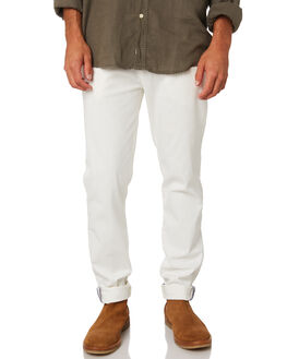 WHITE MENS CLOTHING ACADEMY BRAND PANTS - 19W109WHI
