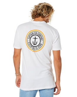WHITE MENS CLOTHING CAPTAIN FIN CO. TEES - CT194005WHT