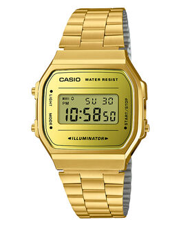 GOLD GOLD MENS ACCESSORIES CASIO WATCHES - A168WEGM-9DFGLDGL