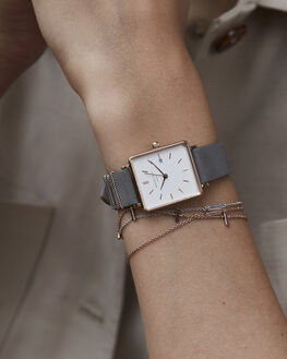 ELEPHANT GREY ROSE WOMENS ACCESSORIES ROSEFIELD WATCHES - QWGR-Q12ELGRR