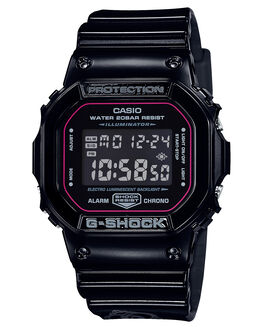 BLACK MENS ACCESSORIES G SHOCK WATCHES - DW5600SLV-1DBLK