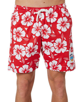 RED MENS CLOTHING OKANUI BOARDSHORTS - OKSOHBRDRED