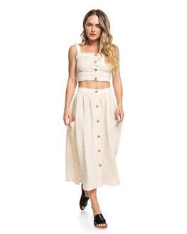 IVORY CREAM WOMENS CLOTHING ROXY SKIRTS - ERJWK03062-TFM0