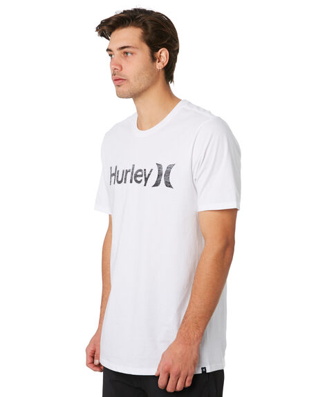 WHITE ANTHRACITE MENS CLOTHING HURLEY TEES - 892205101
