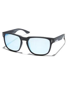 MATT BLK SKY BLUE MENS ACCESSORIES DRAGON SUNGLASSES - 33611-006MBSBI
