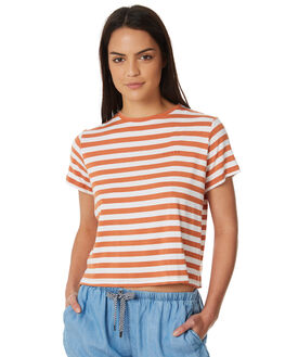RUST STRIPE WOMENS CLOTHING ALL ABOUT EVE TEES - 6423026STR2