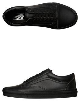 BLACK MONO WOMENS FOOTWEAR VANS SNEAKERS - SSVN-A38G1PXPBLKW