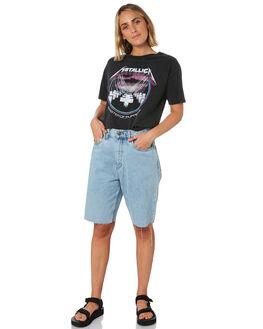 BLACK WOMENS CLOTHING SUNNYVILLE TEES - 48L0023-BLK